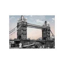 Vintage Tower Bridge 5'x7'Area Rug