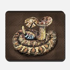 WESTERN DIAMOND BACK ON SNAKE SKIN Mousepad