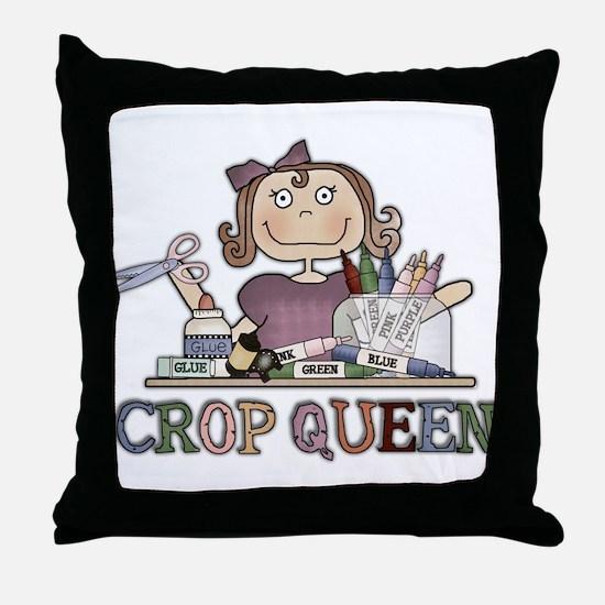 Crop Queen Throw Pillow