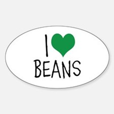 I Love Beans Decal