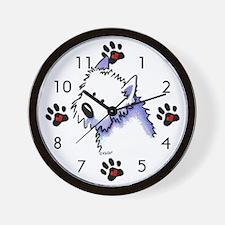 Good Dog Westie Wall Clock