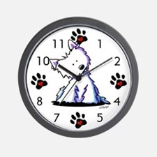KiniArt Curious Westie Wall Clock