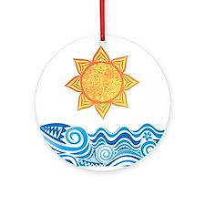 Sun and Sea Ornament (Round)