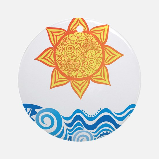 Sun and Sea Ornament (Round)