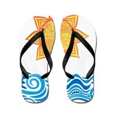 Sun and Sea Flip Flops