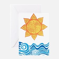 Sun and Sea Greeting Cards