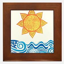 Sun and Sea Framed Tile