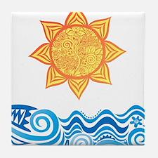 Sun and Sea Tile Coaster