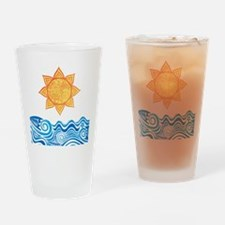 Sun and Sea Drinking Glass