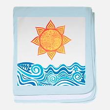 Sun and Sea baby blanket