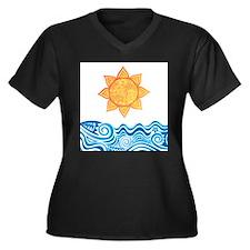 Sun and Sea Plus Size T-Shirt