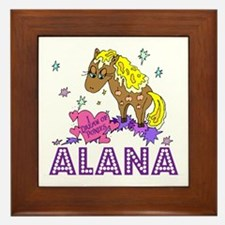 I Dream Of Ponies Alana Framed Tile