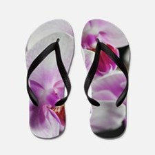 Two Pink White Orchids Flip Flops