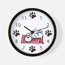 Lazy Day Westie Wall Clock
