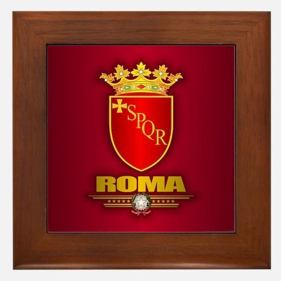 Rome COA Framed Tile