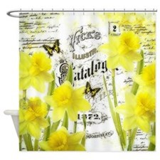 Vintage daffodils Shower Curtain