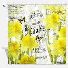 Vintage daffodils Shower Curtain