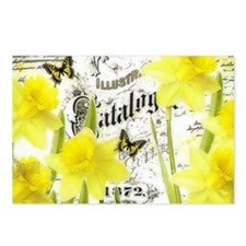 Vintage daffodils Postcards (Package of 8)