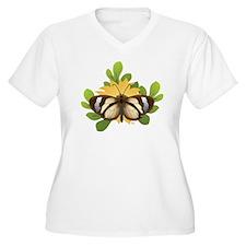 Transparent butterfly Plus Size T-Shirt