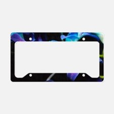Two Purple Orchids License Plate Holder