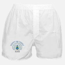 Happy Birthday NATE (peacock) Boxer Shorts