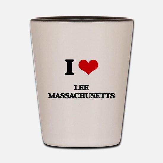 I love Lee Massachusetts Shot Glass
