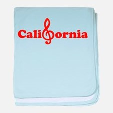 California Music Note Key USA West Co baby blanket
