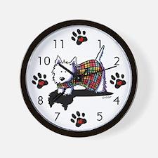 Westie Coat Wall Clock
