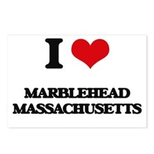 I love Marblehead Massach Postcards (Package of 8)