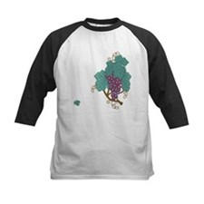 grape cluster-side Baseball Jersey