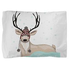 Christmas Deer Pillow Sham