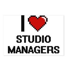I love Studio Managers Postcards (Package of 8)