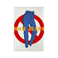 No Mom Jeans Rectangle Magnet