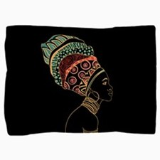 African Woman Pillow Sham