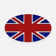 Union Jack British Flag Oval Car Magnet