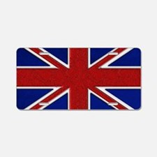 Union Jack British Flag Aluminum License Plate