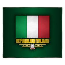Italian Flag King Duvet
