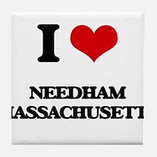 I love Needham Massachusetts Tile Coaster