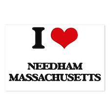 I love Needham Massachuse Postcards (Package of 8)