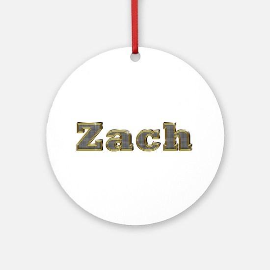 Zach Gold Diamond Bling Round Ornament