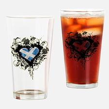 Scottish Heart Drinking Glass