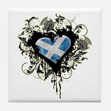 Scottish Heart Tile Coaster