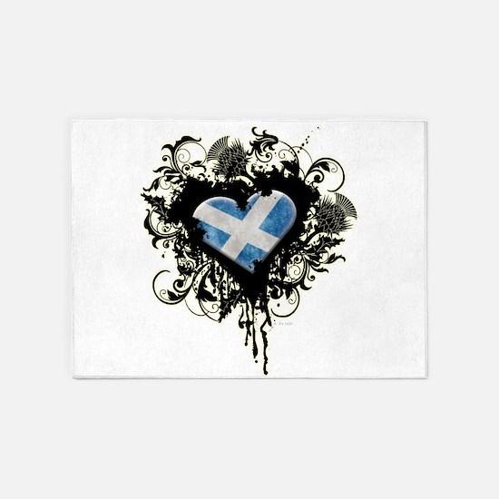Scottish Heart 5'x7'Area Rug