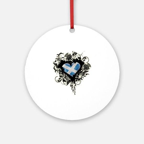 Scottish Heart Ornament (Round)