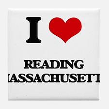 I love Reading Massachusetts Tile Coaster
