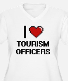 I love Tourism Officers Plus Size T-Shirt