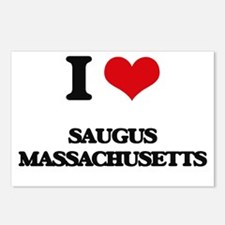 I love Saugus Massachuset Postcards (Package of 8)
