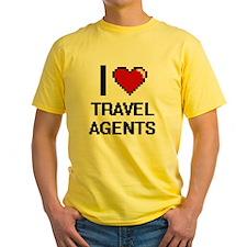 I love Travel Agents Women's Cap Sleeve T-Shirt
