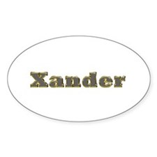 Xander Gold Diamond Bling Oval Decal