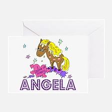 I Dream Of Ponies Angela Greeting Card